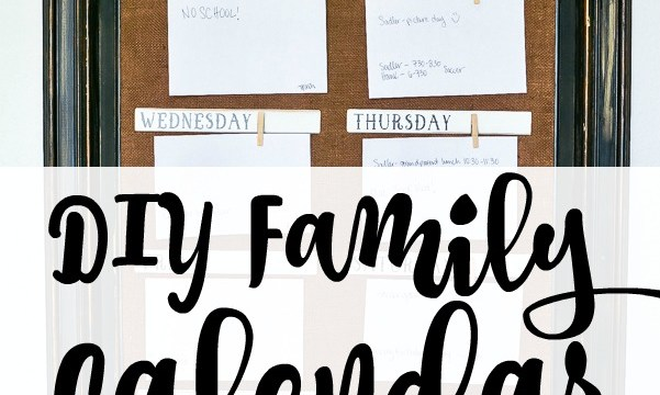 DIY Family Wall Calendar