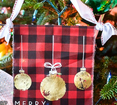 Handmade Fabric Christmas Ornaments