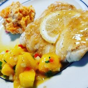 Garlic ginger cod with Sauvignon Blanc butter sauce