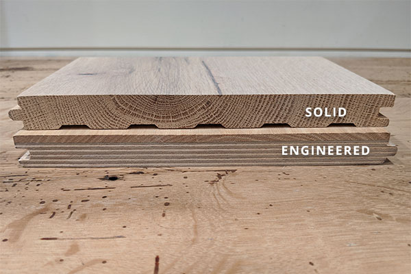 Comparison of solid versus engineered flooring