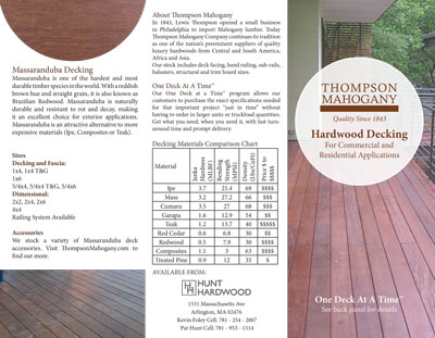 Lumber and decking brochure link