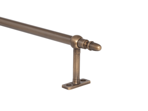 solid brass cafe rod ring brackets