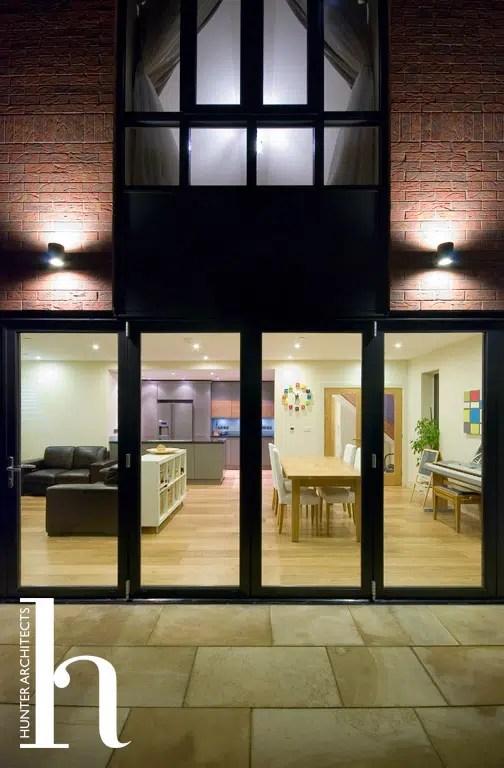 External lighting of family home in Altrincham