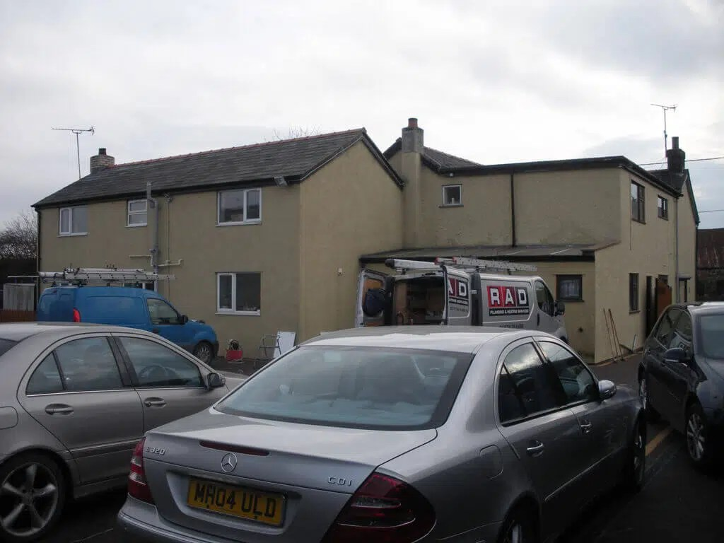 The existing house prior to works commencing RIBA Architects in Flintshire