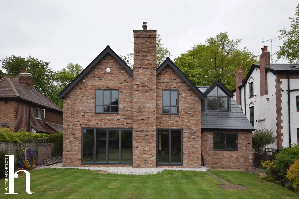 Remodelled Contemporary Rear Elevation in Macclesfield Cheshire