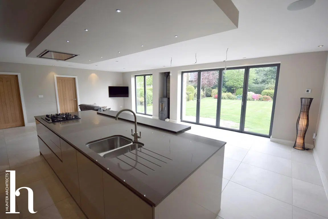 Family Room with contemporary kitchen in Macclesfield Cheshire