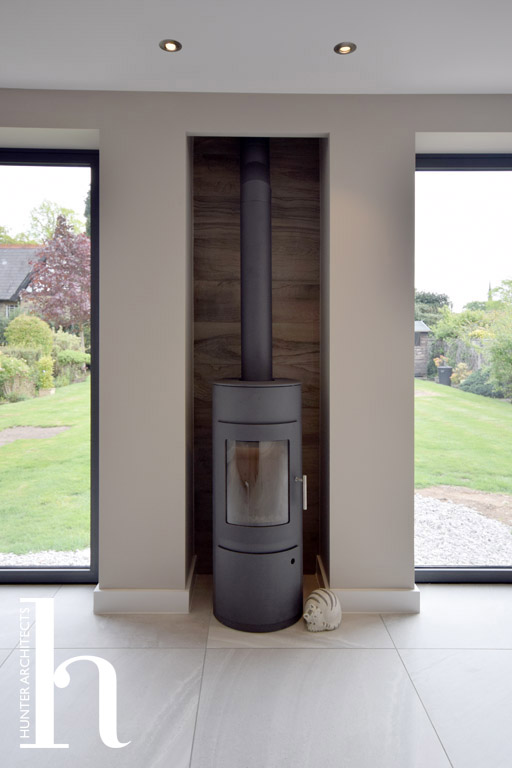 Wood Burning Stove Architectural Design in Macclesfield