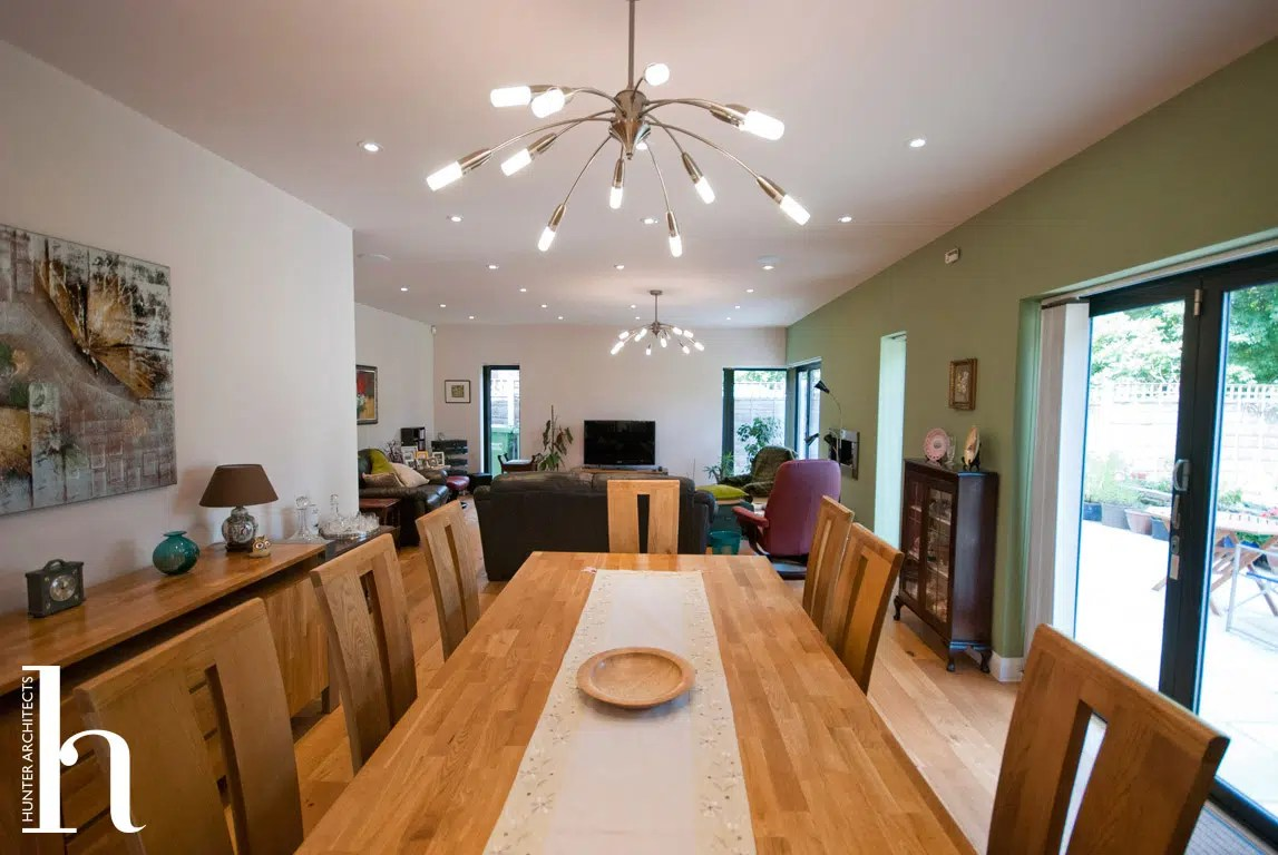 Dining room with access to garden
