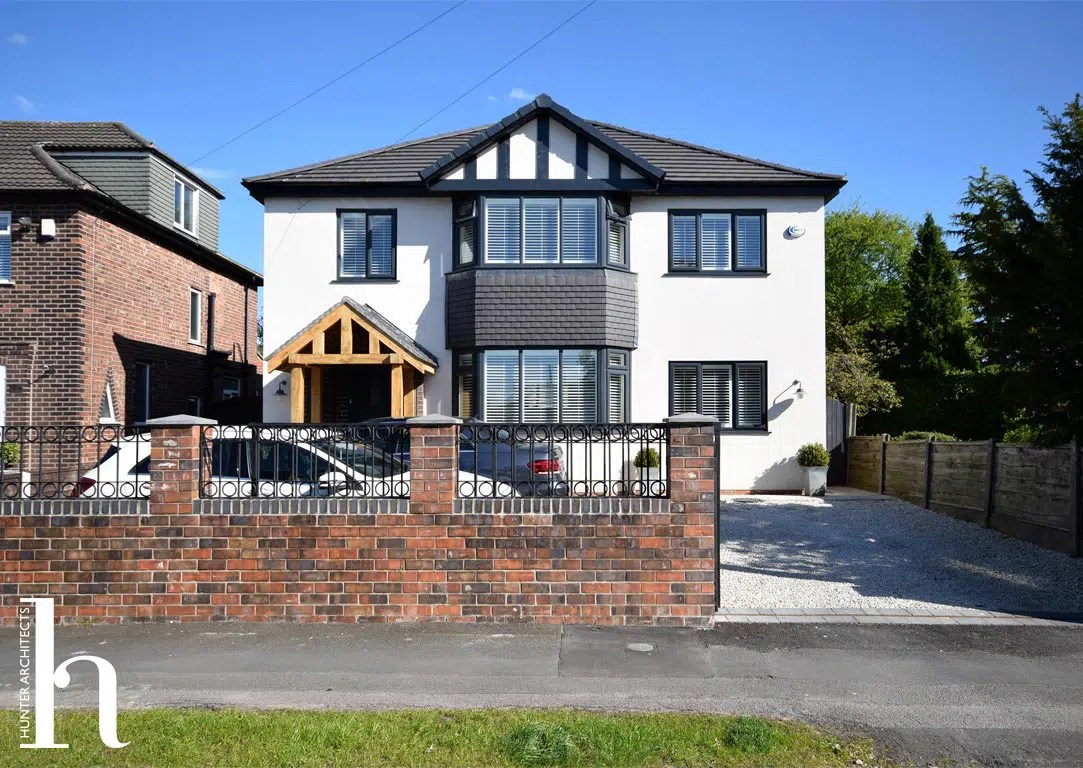 Remodelled Contemporary Front Elevation in Timperley Cheshire