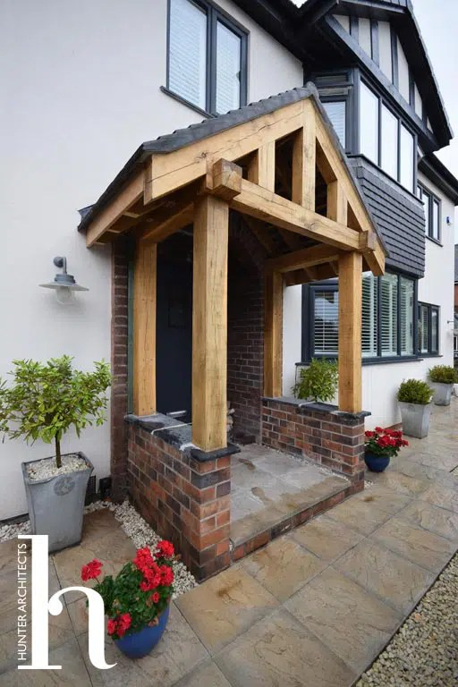 Oak Porch to substantial detached home in Altrincham