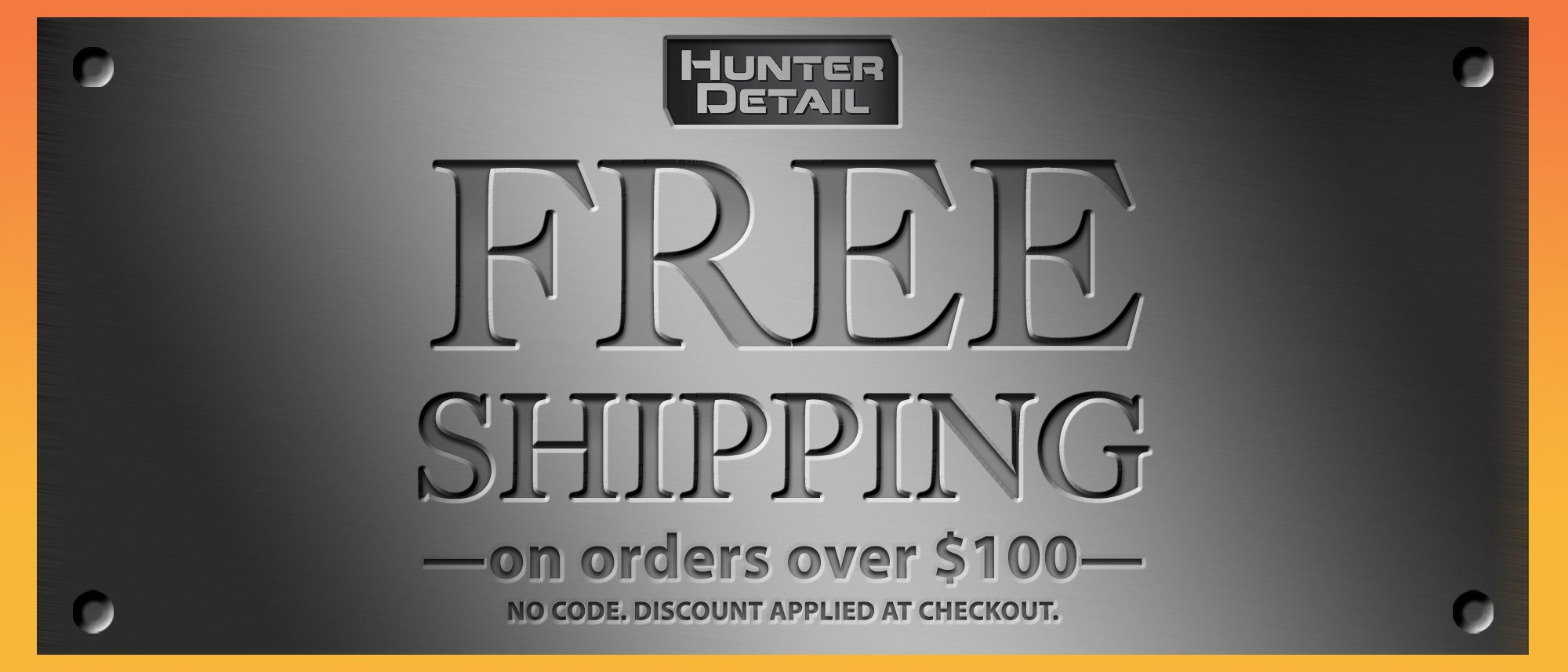 Hunter Detail Free Shipping Offer