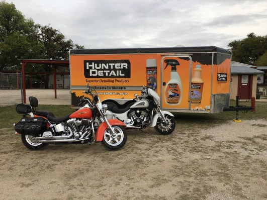 Hunter Detail Bikes and Trailer