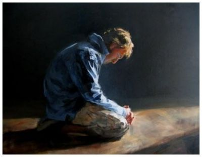 Image result for man on his knees praying