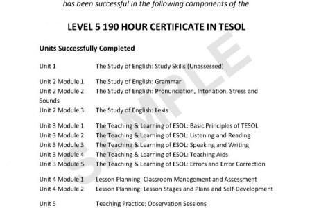certificate templates tefl certification online free