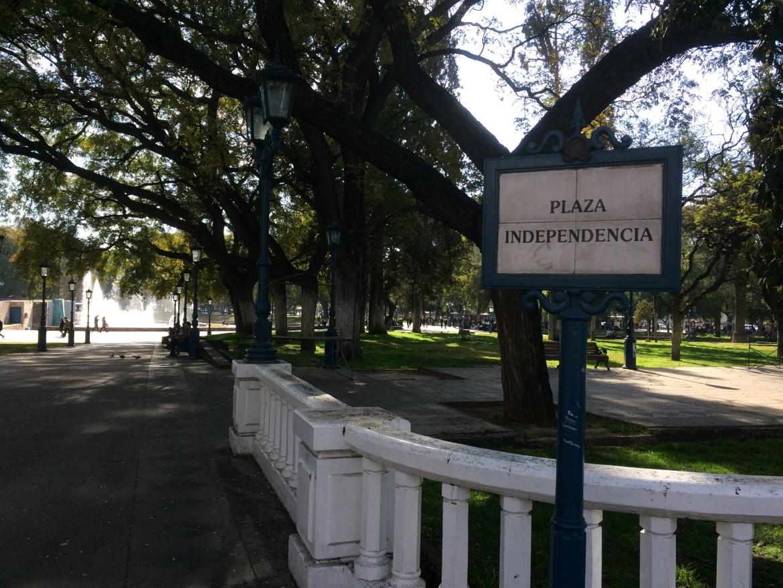 mendoza; plaza independencia; argentina