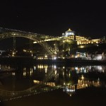 Porto, bridge, night