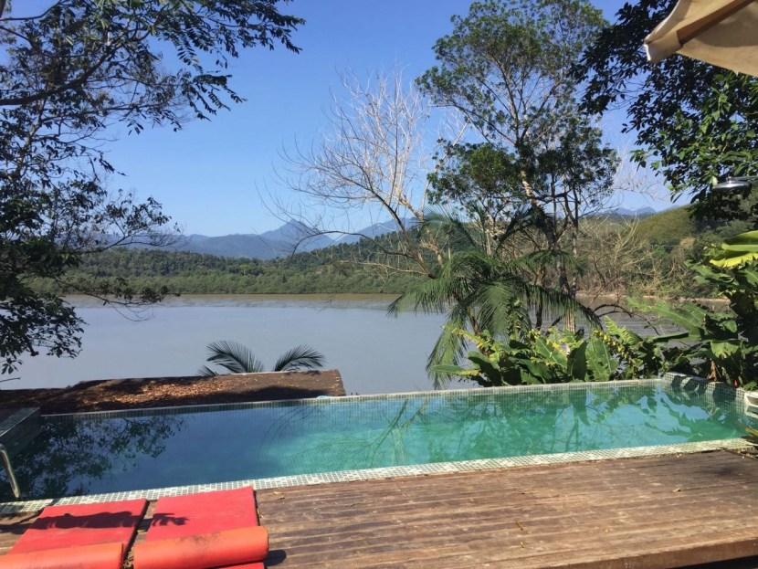 Hostel, pool view, jungle, sea