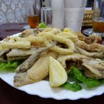 Fish, dish, Tanger, Morocco