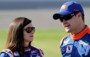 Danica Patrick and Ricky Stenhouse Jr