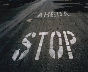 PARALLEL UNIVERSE: 'AHEDA STOP': Angeleno Motorists Have to Learn to Read From Bottom Up -- And Some Even Know How to Spell