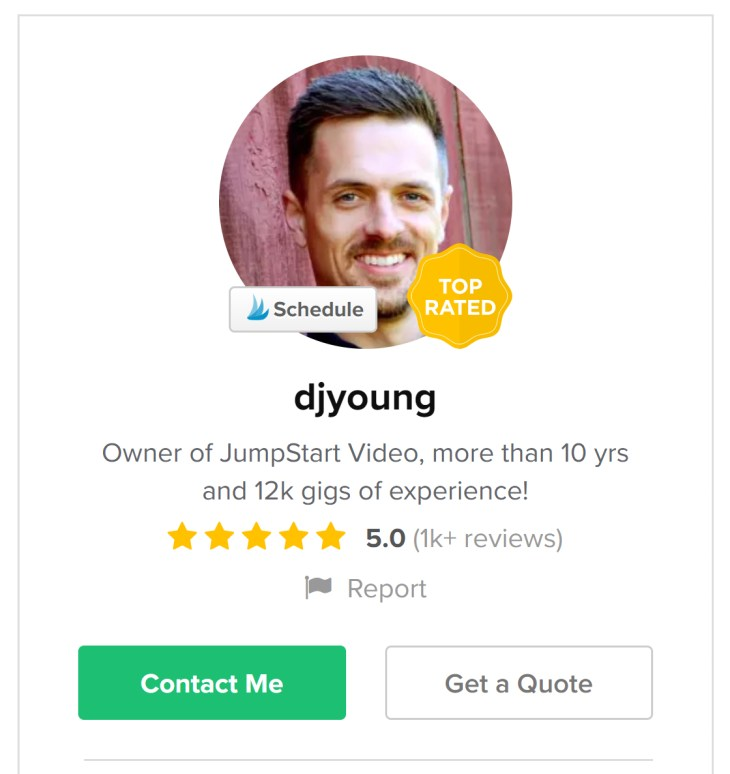 djyoung - Fiverr sellers who make six figures a year in 2020