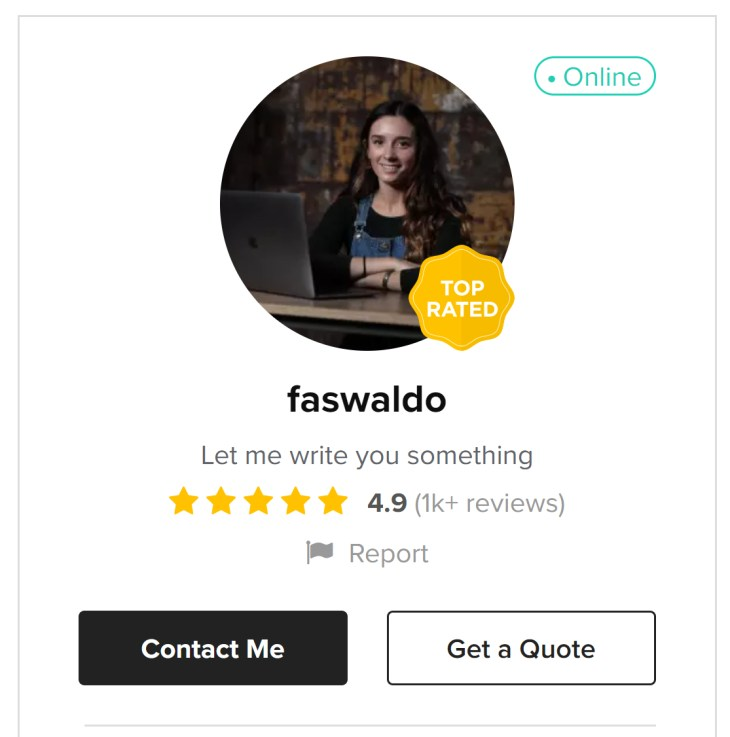 faswaldo - Fiverr sellers who make six figures a year in 2020