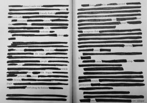 Blackout Poetry Contest