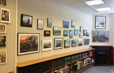 Art Wall at the Hunt Library