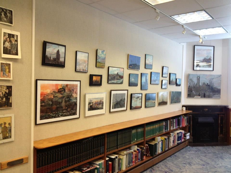 Art Wall at the David M. Hunt Library, Falls Village, Connecticut