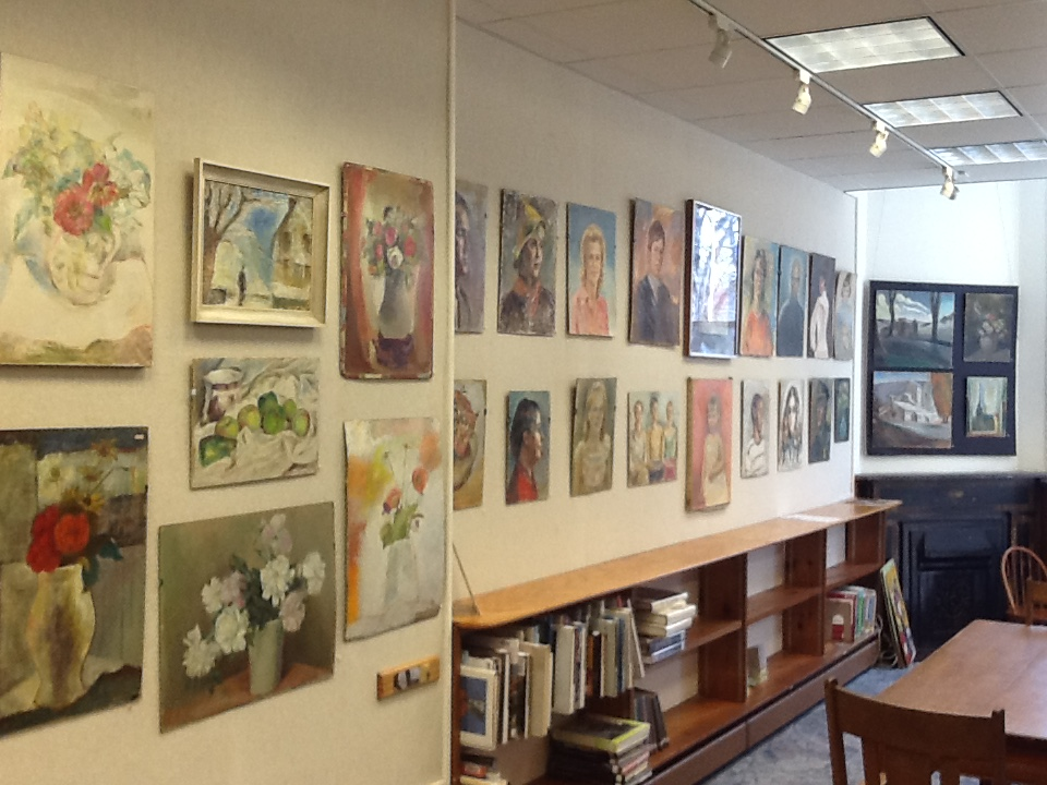 The Art Wall at the Hunt Library