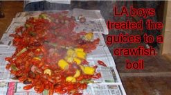 A group from Louisiana brought a little Cajun food and treated us to a crayfish boil.