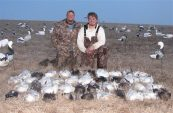 Snow goose guide Jake Groth and friend DJ enjoyed an afternoon hunt in Missouri.