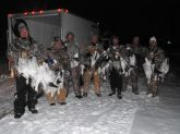 Who says you can't kill snow geese in the snow? Another successful snowy snow goose hunt.