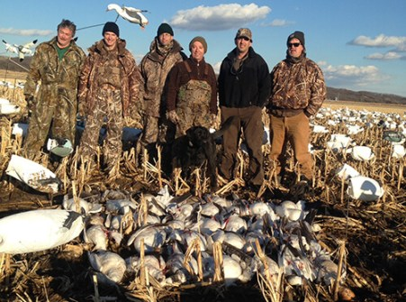 Mid-March Missouri snow goose hunt
