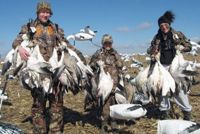 This group of youth hunters had a good time hunting snow geese in 2012.