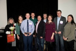 """Rising Young Professionals In Construction"" Awards Go To Hunzinger Employees Alex Raver & Michael Jahns"