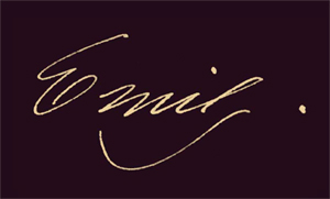 Emily Dickinson Signature: Houghton Library. MS Am 1118.5 (B44)