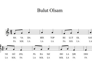 Sayfa 38 Bulut Olsam Melodika ile Çalınışı 6. sınıf Müzik Dersi Kitabı