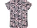 45C-34006 T-shirt Light pink + navy ao