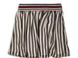 45C-34083 Skirt Black + white + stri