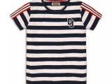 45C-34119 T-shirt Navy-white stripe