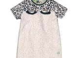 35C-34324 Baby dress White + mint + blue