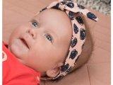 Baby Girls head band allover print light pink AO