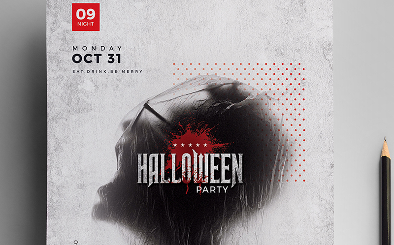 Halloween Party Flyer Corporate Identity Template