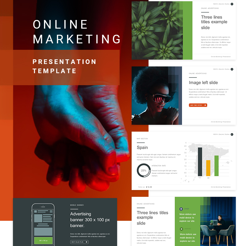 Online Marketing PowerPoint Template