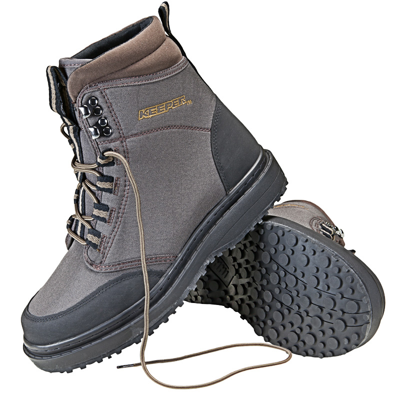 keeper rubber sole wading boots