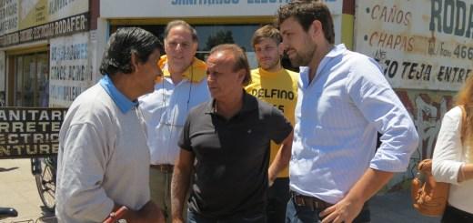 Miguel Del Sel con Lucas Delfino en Hurlingham