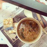 Spinach and Lentil Soup aus dem Café der Public Policy School