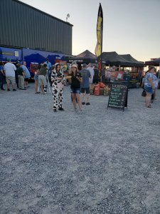 Cow Costume at Boyle County BBQ