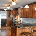 Traditional Rustic Kitchen Design Shaker Cabinets Breakfast